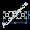 Алюминиевый станочный профиль 60х20