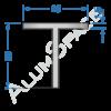 Алюминиевый тавр 20х20х1,5 Анод