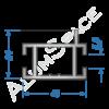 Алюминиевый торговый профиль горизонтальный 40х24 Анод