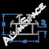 Алюминиевый торговый профиль вертикальный 40х28 Анод