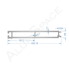 Бортовой алюминиевый профиль — нижняя планка — 200 мм — Анод