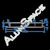 Бортовой алюминиевый профиль — планка средняя — 200 мм — Анод