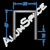 Бортовой алюминиевый профиль — соединительный 37х30 — Анод